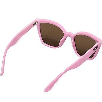 Vans Womens Hip Cat Eye överdimensionerade klassiska sommarsolglasögon - Rosa