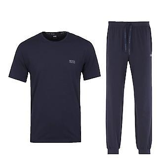 BOSS Bodywear T-Shirt & Joggers Loungewear Set - Navy