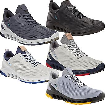 ECCO Mens Biom Cool Pro Leather Gore-Tex Waterproof Golf Trainers Sneakers Shoes