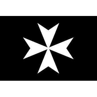 Riddere av malta frimurerflagg svart