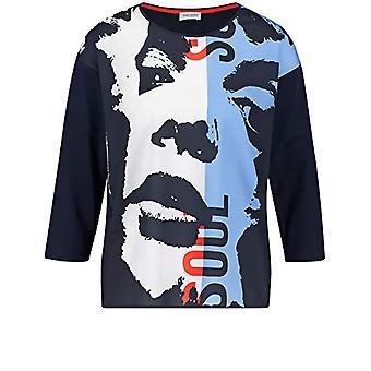 Gerry Weber 370226-35026 T-Shirt, Blue (Blue Print 8008), (Herstellergro and: 44) Woman