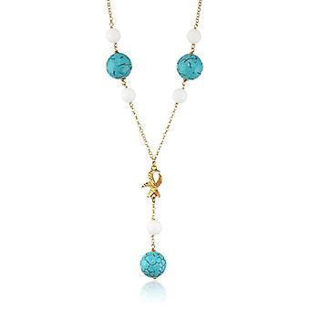 MISIS Women-Necklace Gallipoli Silver 925 Agate Multicolored 50 cm - CA07712
