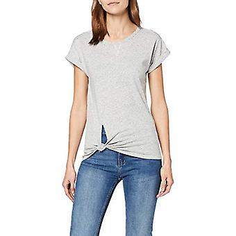 G-STAR RAW Caper Knotted cap Sleeve Round Neck T-Shirt, Multicolor (Milk/Dk Black 8751), 38 (Size Manufacturer: XX-Small) Woman