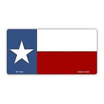 لوحة ترخيص، غطاء علامة الغرور المعدنية، علم ولاية تكساس، لون ستار