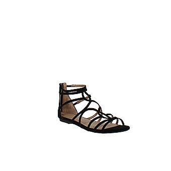 Material Girl | Sira Faux Suede Strappy Flat Sandals