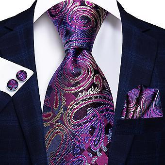 الايطالية مرحبا التعادل 100٪ الحرير مجموعة ربطة عنق الرجال، 8.5cm
