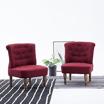 Französisch Stühle 2 St Fabric Wein rot