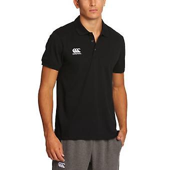 Canterbury Men's Waimak Polo T-Shirt, Black, Large