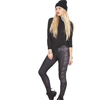 Black Sabbath - Celtic Logo Ladies Medium-Large Fashion Leggings - Black,White