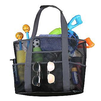 Mesh Beach táska túlméretezett Beach Tote Toy Bag