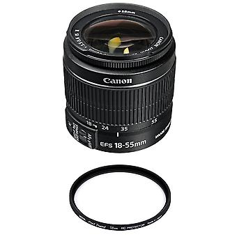 Canon Camera Lens Ef-s 18-55mm F3.5-5.6 Is Ii (no Packing) + Hoya 58mm Pro 1d Protector