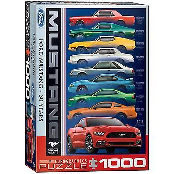 Eurografiikka Ford Mustang 50-vuotisjuhla palapeli (1000 kappaletta)