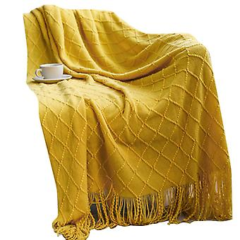 Swotgdoby Blanket With Fringe, Lightweight Cozy Blanket Suitable For All Season