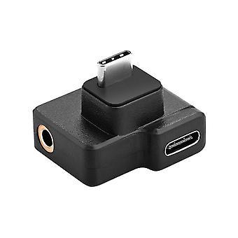 ALLOYSEED USB Type C Férfi és Női Klasszikus színek Egyszerű tartós 3,5 mm-es mikrofon audio adapterek