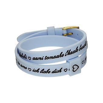 Il mezzometro i love you gold silicone bracelet  bmg1706