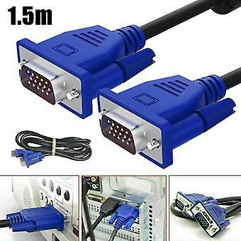 VGA 1,5M kabelové měřiče SVGA s vysokým rozlišením 15 pinů PC na TFT monitor LCD TV