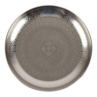 Etwas anderes Silberton Dekoratives Tablett
