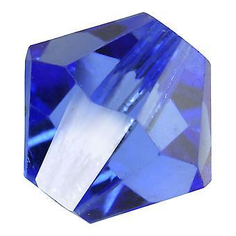 Preciosa tjekkisk krystal, Bicone Perle 6mm, 24 stykker, safir