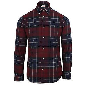 Barbour men's merlot lutsleigh shirt