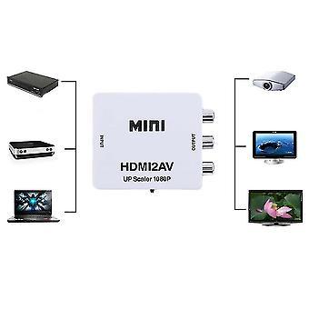 Hdmi в Av Cvbs Видео Аудио Преобразователь Сигнал Адаптер для Телевизор Vhs Vcr DVD