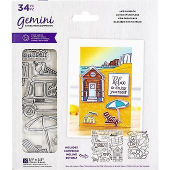 Crafter's Companion Gemini Frimärken & Dies - Livet är en strand