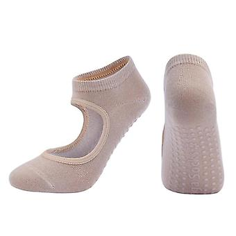 جوارب يوغا عالية الجودة نسائية مع قماش مضاد للانزلاق وسريع التجفيف