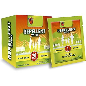 Mosquito Repellent Wipes (20 Packs) All Wipes Are Individually Packaged, With Plant Ingredients