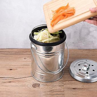 3l kjøkken kompost hjemmelaget organisk søppelbøtte - svart kullfilter dobbel