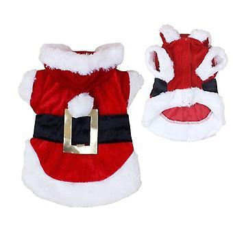 Crăciun Dog Haine pentru câini mici Santa Dog Costum de iarnă Pet Coats culoare Roșie