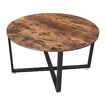 Table basse ALINRU - Brun rustique, noir - 88 x 47 cm