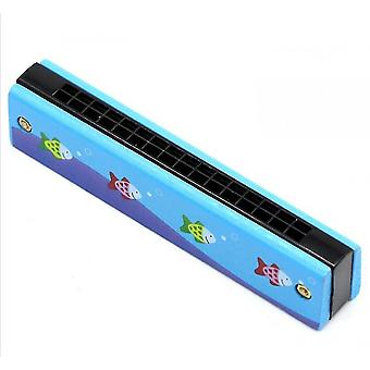 Harmonicas kids harmonica 16 hole children harmonicas educational toys blue