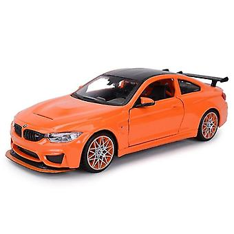 Toy cars 1:24 bmw m4 gts sports car static die cast vehicles collectible model car toys orange