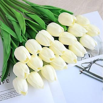 Artifiical Tulpen Blumen Strauß + Für Hochzeit Büro Party Home Decoration (blau)