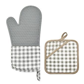 Oven mitt hittebestendige pot houder pad set antislip keuken handschoen