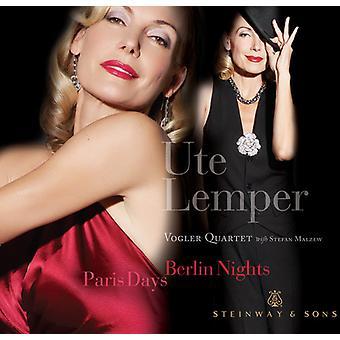 Ute Lemper & Vogler Quartet - Paris Days, Berlin Nights [CD] USA import
