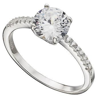 Модное кольцо 925 серебряные циркония
