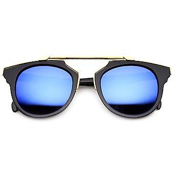 Premium Retro Cross Bar lente Flash Bridgeless óculos de sol