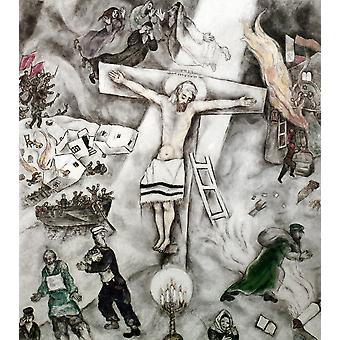 Valkoinen ristiinnaulitsemisen Nmarc Chagall öljyä 1938 Juliste Tulosta Granger Collection