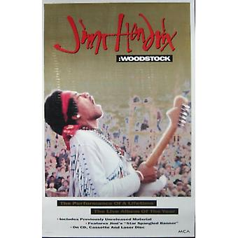 Jimi Hendrix Woodstock Performance of a Lifetime Poster