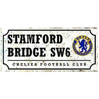 Chelsea FC Retro Football Street Sign