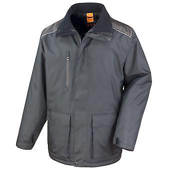 Result Mens Work-Guard Vostex Long Coat / Workwear (Waterproof & Windproof)