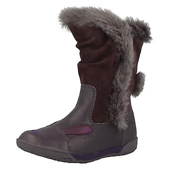 Girls Clarks Casual Boots Nibbles Fluf