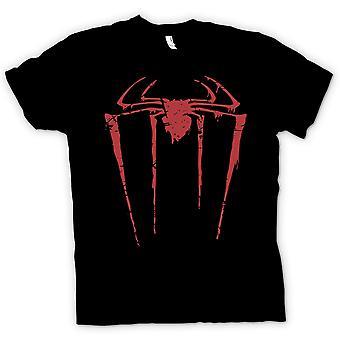 T-shirt crianças-Spiderman Grunge logotipo