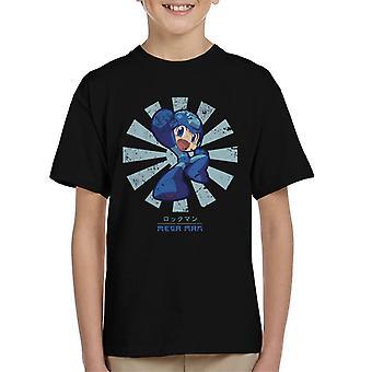 T-shirt homem mega retrô japonesa do miúdo