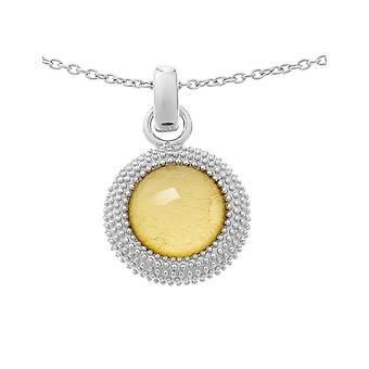 Orphelia Silver 925 kedja med hänge guld blad ZH-6041/2