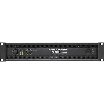 Dynacord SL 2400 PA forstærker RMS strøm pr. kanal (ved 4 Ohm): 1200 W