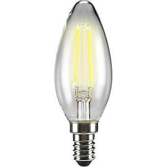 Sygonix LED (monochrome) EEC A++ (A++ - E) E14 Candle 4 W = 40 W Warm white (Ø x L) 35 mm x 99 mm Filament 1 pc(s)