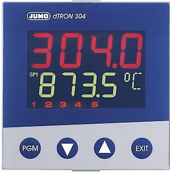 Jumo dTRON 304 PID temperatuur regelaar Pt100, Pt500, Pt1000, KTY11-6, L, J, U, T, K, E, N, S, R, B, C, D-200 tot + 2400 ° C 3 A estafette, analoge stroom (L