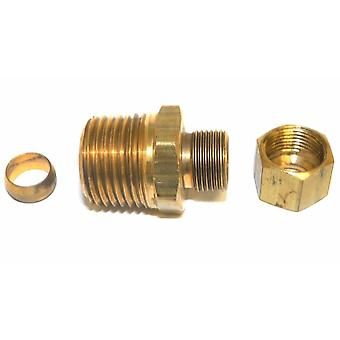 """Big A Service Line 3-168680 Brass Pipe, Reduction Male Connector 1/2"""" x 3/8"""""""