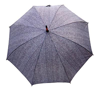 Tweed Herringbone Print  Straight Umbrella HT01